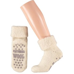 Apollo Slofsok anti slip unisex grijs/beige 35-38 (1 paar)