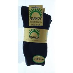 Naproz Thermo sokken 35-38 blauw (3 paar)