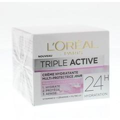 Loreal Dermo expertise triple active droog/gev dagcreme (50 ml)