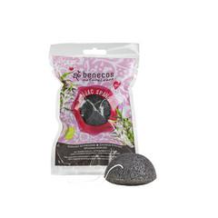 Benecos Konjac spons black bamboo (1 stuks)