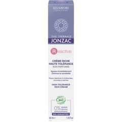 Jonzac Reactive hoge tolerantie rijke creme (40 ml)
