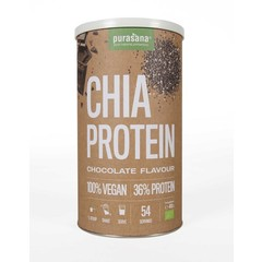 Purasana Chia proteine chocolade vegan bio (400 gram)