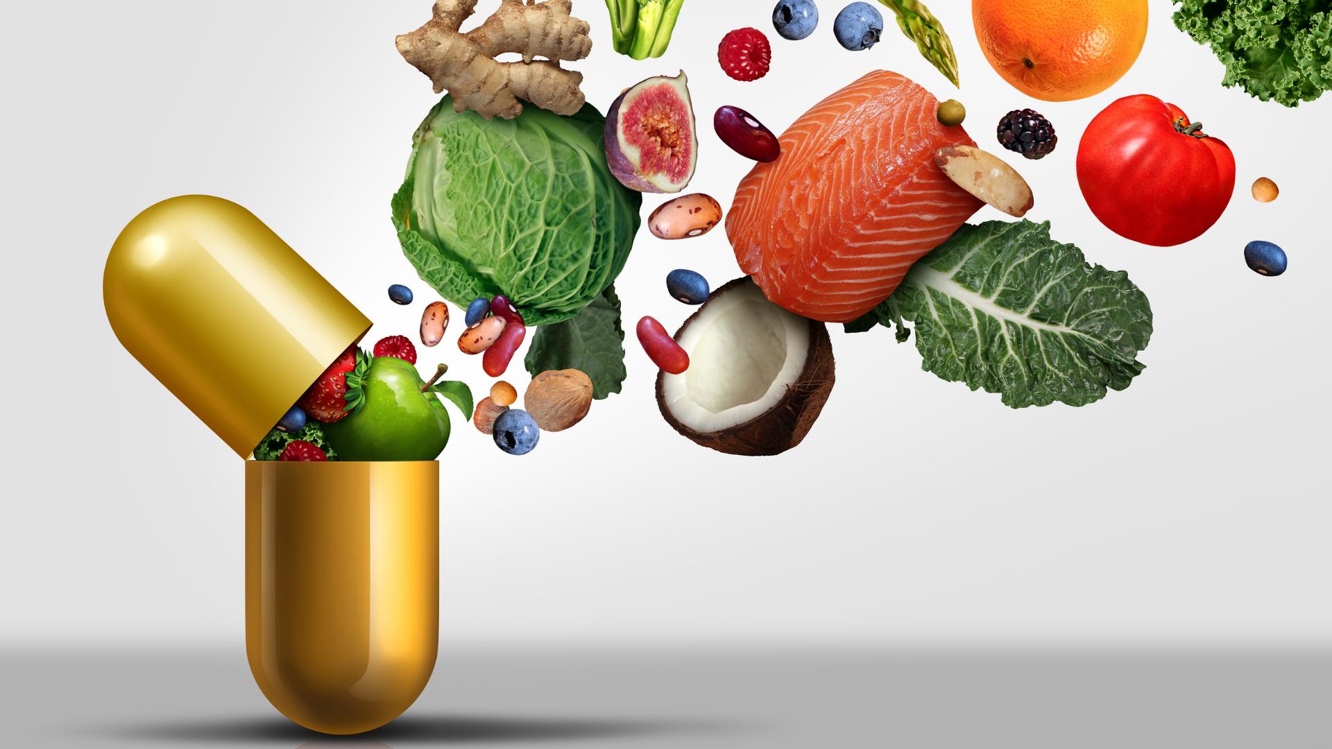gekleurde vitamines