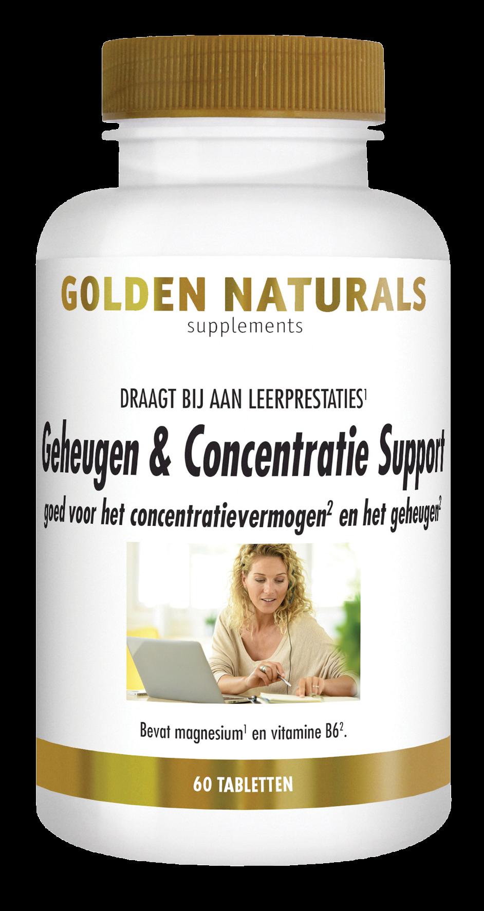 Golden Naturals Geheugen & Concentratie Support