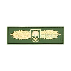 JTG JTG Winged Skull Rubber Patch OD