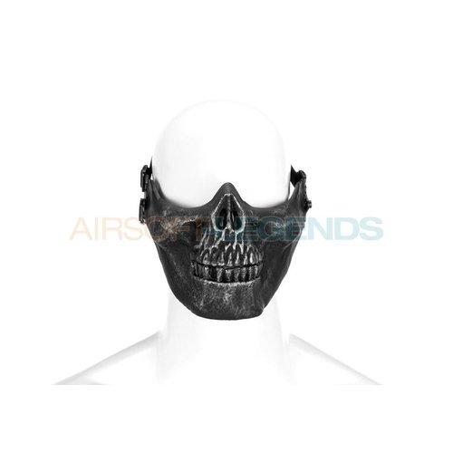 Invader Gear Invader Gear Skull Half Face Mask Metallic