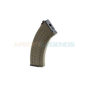 King Arms King Arms Midcap Magazijn AK47 Waffle (140BB's) Desert