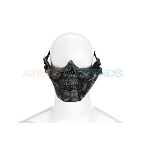 Invader Gear Invader Gear Skull Half Face Mask Black
