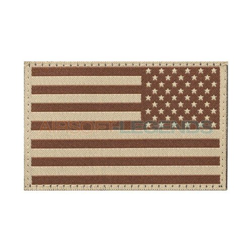 Clawgear Clawgear USA Reversed Flag Patch Desert