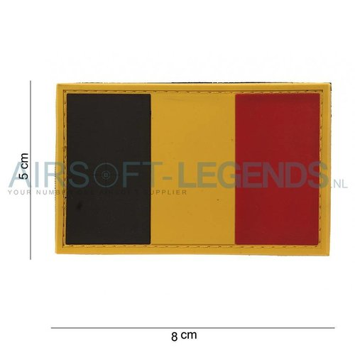 101Inc. 101Inc. Belgium Flag Rubber Patch