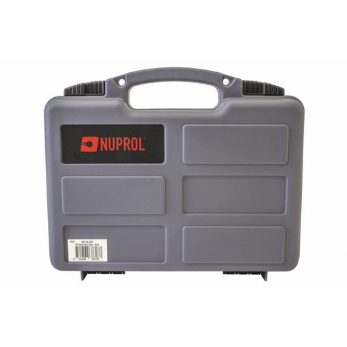 NUPROL Nuprol Small Pistol Hard Case Grey Pluck Foam