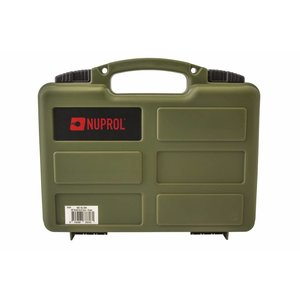 NUPROL Nuprol Small Pistol Hard Case OD Green Pluck Foam