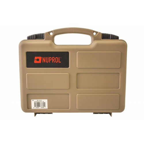 NUPROL Nuprol Small Pistol Hard Case Tan Pluck Foam