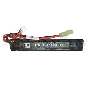 101Inc. 7.4V LiPo batterij - 1300 MaH 20C Stock Tube Type