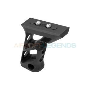 Metal Metal CNC Keymod Long Angled Grip Black