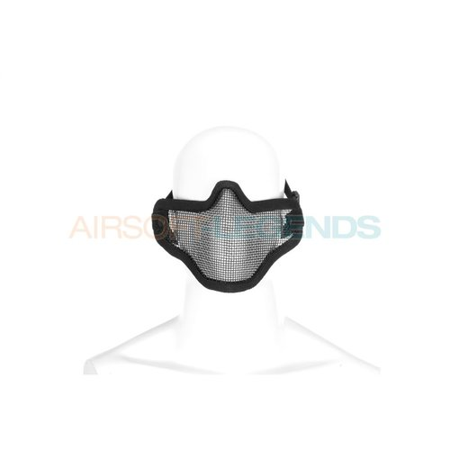 Invader Gear Invader Gear Steel Half Face Mask Black
