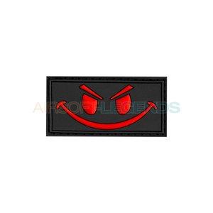 JTG JTG Evil Smiley Rubber Patch Black/Red