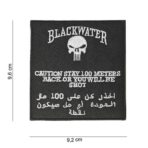 101Inc. 101Inc Blackwater Patch 100mtr warning
