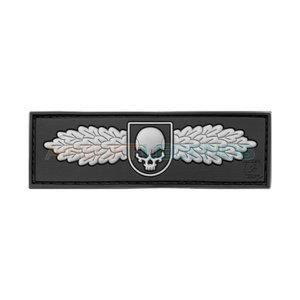 JTG Winged Skull Rubber Patch Black