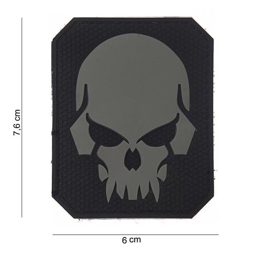 101Inc. 101Inc. Evil Skull Rubber Patch Black