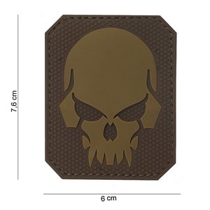 101Inc. 101Inc. Evil Skull Rubber Patch Tan