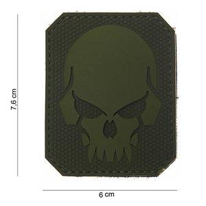 101Inc. Evil Skull Rubber Patch Green