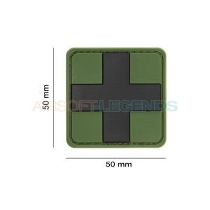 JTG JTG Red Cross Rubber Patch Green