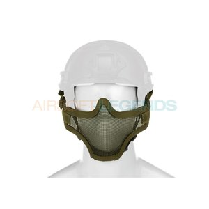 Invader Gear Invader Gear Steel Half Face Mask FAST Version OD Green