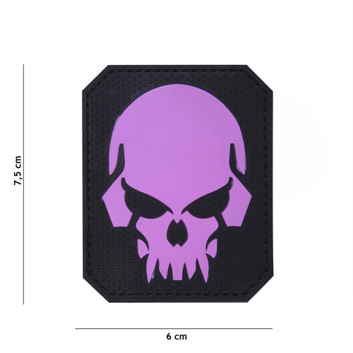 101Inc. 101Inc. Evil Skull PVC Patch Pink