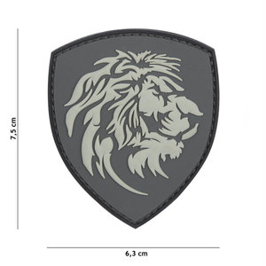101Inc. 101Inc. Dutch Lion PVC Patch Grey