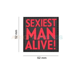 JTG JTG Sexiest Man Alive Rubber Patch Red