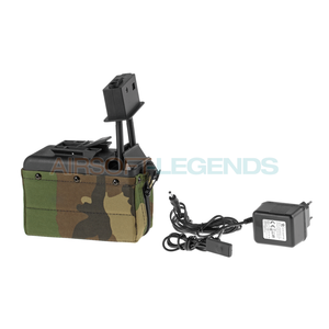 A&K A&K M249 Box Mag 1500rds Woodland