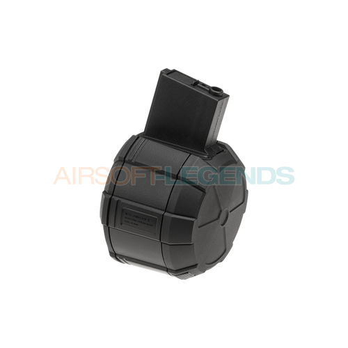 ICS ICS Drum Mag M4 1800rds Black