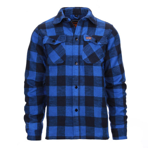 Fostex Fostex Houthakkers Hemd Zwart/Blauw