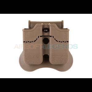 Amomax Amomax Double Mag Pouch for WE / KJW / KWA / TM 1911 Tan