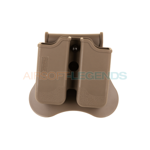 Amomax Amomax Double Mag Pouch for P226 / M9 / CZ P-09 Tan