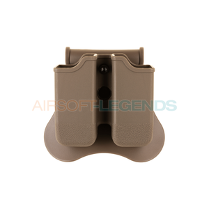Amomax Amomax Double Mag Pouch for WE / KJW / TM 17/19 Tan