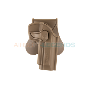 Amomax Amomax Paddle Holster for WE / KJW / KWA / TM M9 Tan