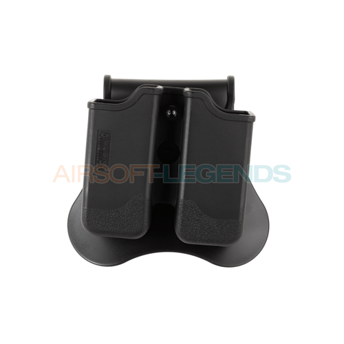 Amomax Amomax Double Mag Pouch for P226 / M9 / CZ P-09 Black