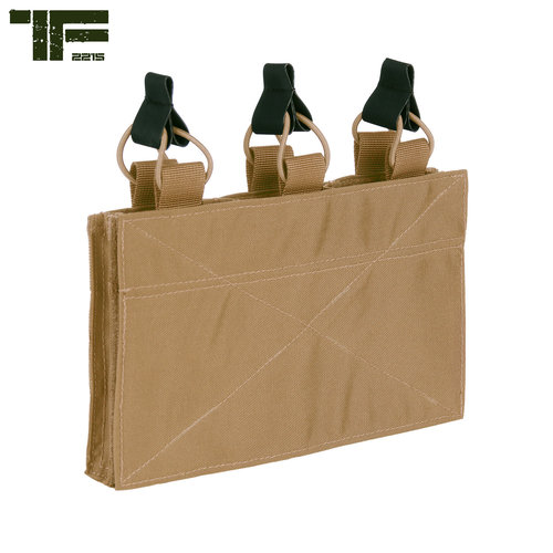Task Force-2215 Task Force-2215 Triple M4 Pouch with Hook and Loop Panel Coyote