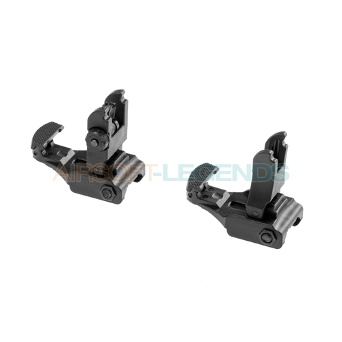 FMA FMA 71L Front & Rear Sight Set Black