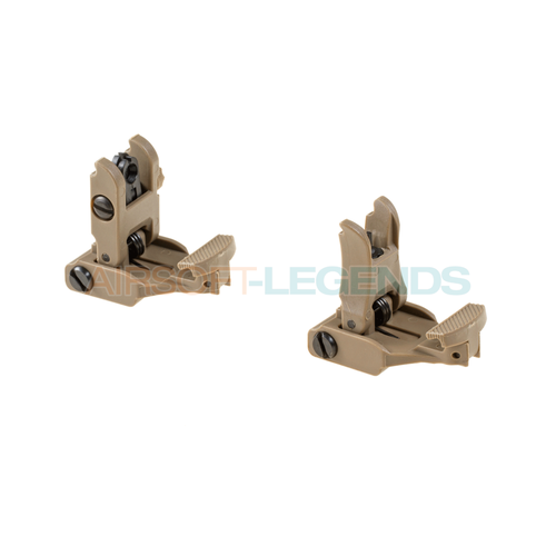 FMA FMA 71L Front & Rear Sight Set Dark Earth