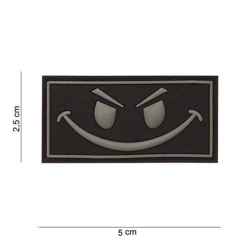 JTG Evil Smiley Rubber Patch Black