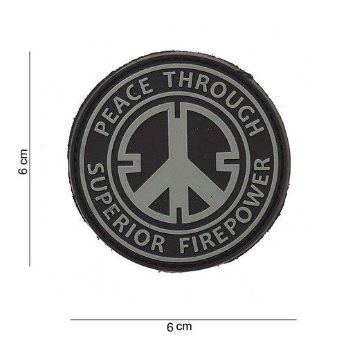 101Inc. Peace Rubber Patch Black