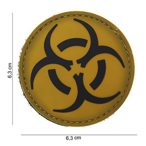 101Inc. Resident Evil Rubber Patch Yellow