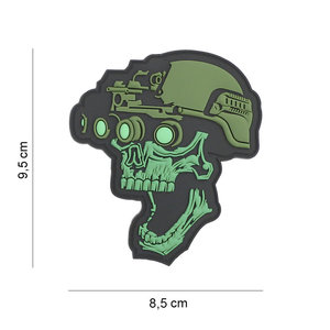 101Inc. Night Vision Skull Green Patch