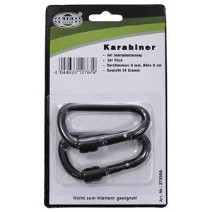MFH Screw Lock Carabiner (2 pack)