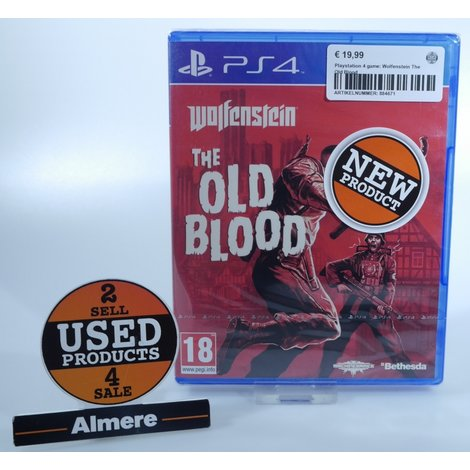 Playstation 4 Game: Wolfenstein The Old Blood
