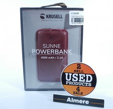 Krusell Sunne Powerbank 4500 mAh / 2.1A Leather Red | Nieuw