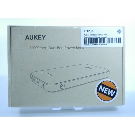 Aukey 10.000mah Dual Port Powerbank | Nieuw in seal